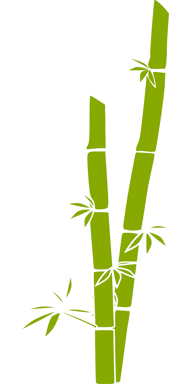 Fake bamboo plants